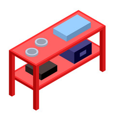 red rack icon isometric style vector image