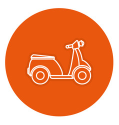 scooter bike isolated icon vector image