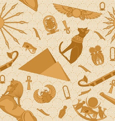 Seamless Egypt Pattern vector image