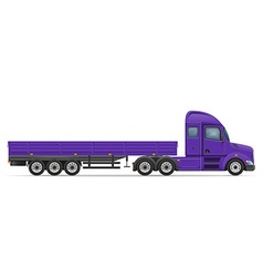 Semi truck trailer 02 vector