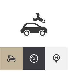 set of 4 editable vehicle icons includes symbols vector image