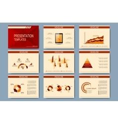 Set of templates for presentation slides vector image
