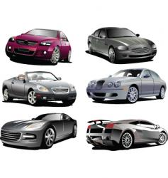 six autos vector image vector image
