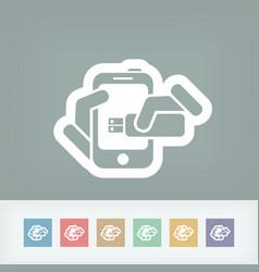 Smartphone storage icon vector