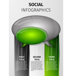 Social infographics vector