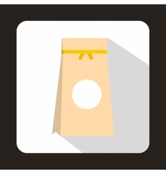 Tea packed in a paper bag icon flat style vector image