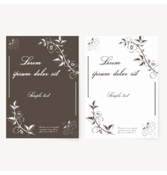 template for folder business card and vector image