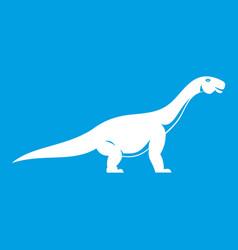 Titanosaurus dinosaur icon white vector