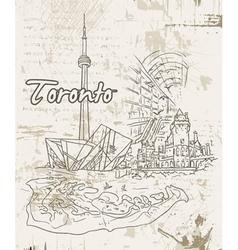 Toronto doodles vector