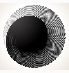Uniquely deformed swirl twirl shape monochrome vector