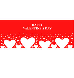 valentines day banner with hearts vector image