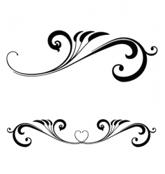 Valentines day scroll vector