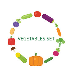 Vegetarian food icon set vector