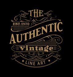 vintage label western hand drawn antique frame vector image