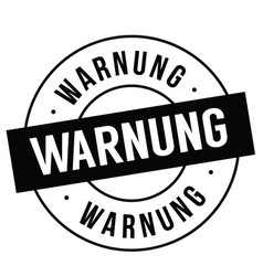 Warning stamp on white vector