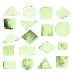 watercolor geometric design elements9 vector image