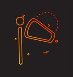 wind tester icon design vector image