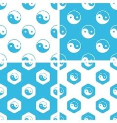 Ying yang patterns set vector