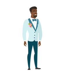 Young african-american confident groom vector