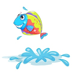 A colourful fish vector image vector image
