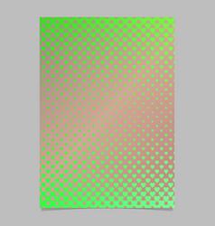 gradient heart pattern brochure template design - vector image