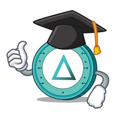 Graduation salt coin character cartoon vector