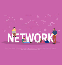 network concept business vector image