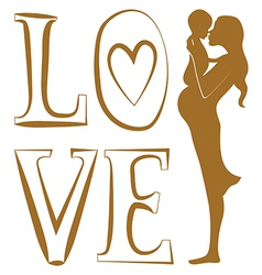 Pure love print vector