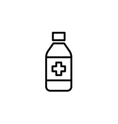 sypup bottle icon on white background vector image