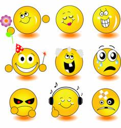 yellow smileys vector image