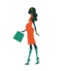 Chic pregnancy shopping vector image vector image