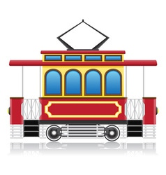 old retro tram vector image vector image
