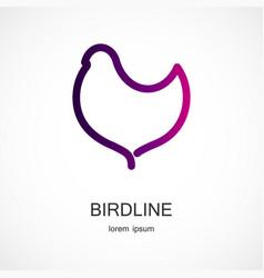 bird symbol design vector image vector image
