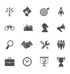 Business Strategy Icon Set vector image vector image