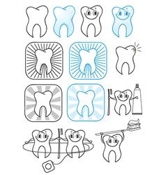 Cartoon Teeth symbol vector image vector image