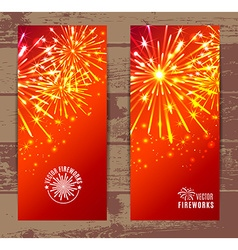 Fireworks Banners set vector image