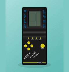 retro tetris electronic game vintage style pocket vector image vector image