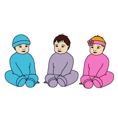 babies-colorful-Converted vector image