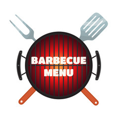 barbecue menu flyer invitation banner flat style vector image vector image