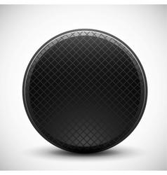 Dark circle made of metal grid design vector image vector image