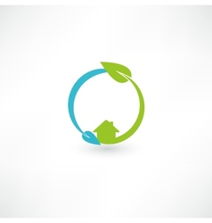 Eco green energy vector image vector image