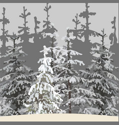 gray background of the winter forest vector image vector image