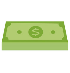 green stack of money icon money icon in flat vector image