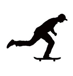 skateboard black color vector image