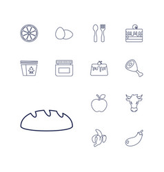 13 food icons vector