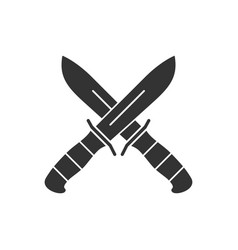 2 knifes vector image
