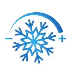 air conditioning symbol snowflake vector image