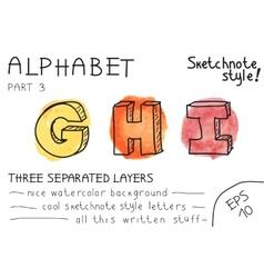 Alphabet - Part 3 vector