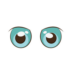 Anime eyes style comic vector