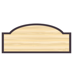 Blank wooden store sign vector
